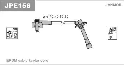 Високовольтні дроти запалювання JANMOR JPE158.