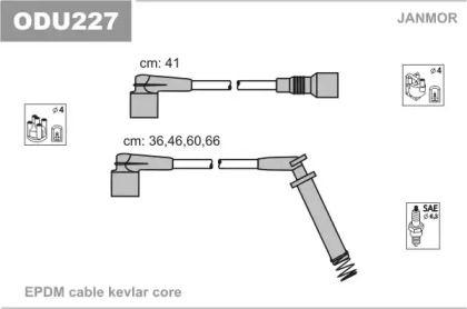 Високовольтні дроти запалювання 'JANMOR ODU227'.