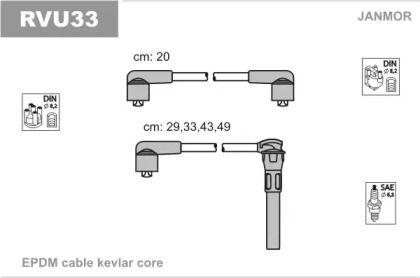 Високовольтні дроти запалювання JANMOR RVU33.