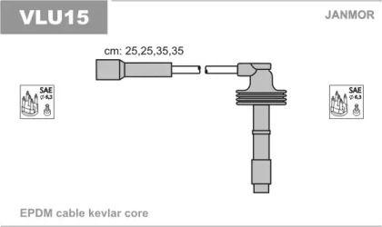 Високовольтні дроти запалювання JANMOR VLU15.