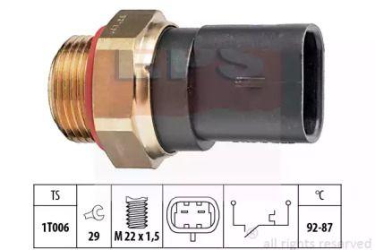 Датчик включения вентилятора на FIAT PALIO 'EPS 1.850.187'.