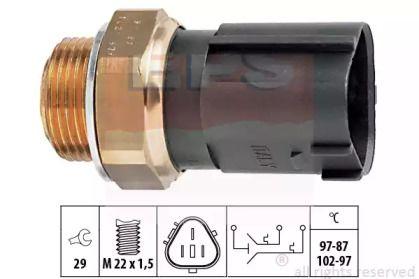 Датчик включения вентилятора на SEAT ALTEA 'EPS 1.850.690'.