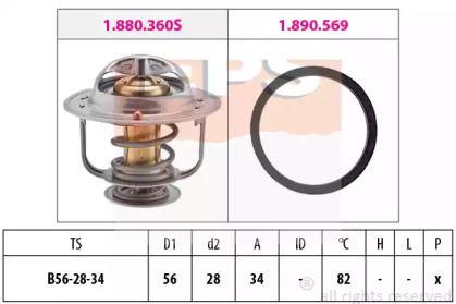 Термостат, охлаждающая жидкость на TOYOTA PREVIA 'EPS 1.880.360'.