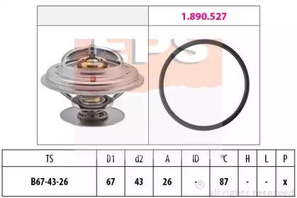 Термостат, охолоджуюча рідина на Mercedes-Benz W210 EPS 1.880.385.