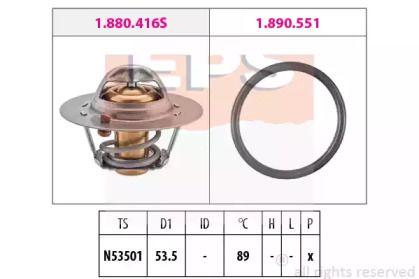 Термостат, охолоджуюча рідина на MITSUBISHI CARISMA  EPS 1.880.416.