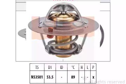 Термостат, охолоджуюча рідина на Мітсубісі Карізма 'EPS 1.880.416S'.