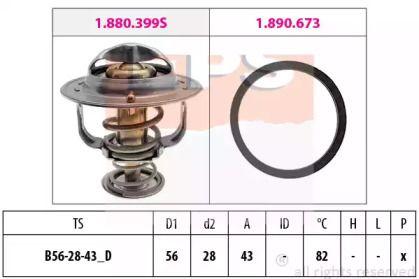 Термостат, охлаждающая жидкость на TOYOTA PREVIA 'EPS 1.880.683'.