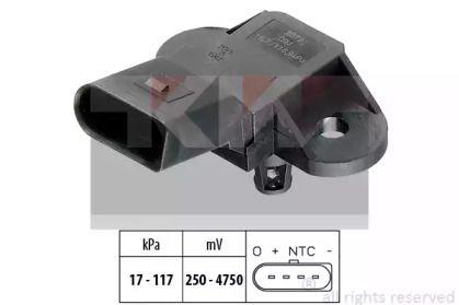 Датчик тиску наддуву KW 493 072.