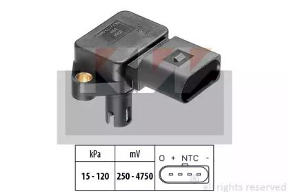 Датчик тиску наддуву KW 493 084.
