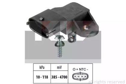 Датчик тиску наддуву KW 493 091.