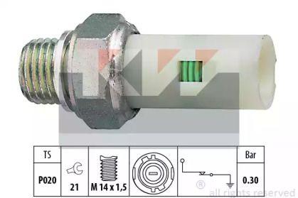 Датчик тиску масла KW 500 076.