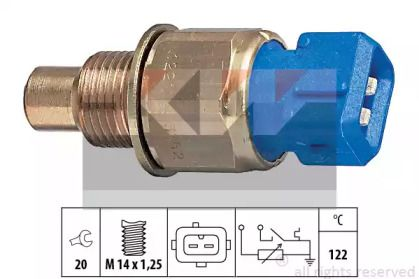 Датчик температури охолоджуючої рідини KW 530 552.