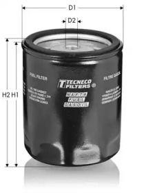 Фільтр паливний дизель 'TECNECO FILTERS GS162'.