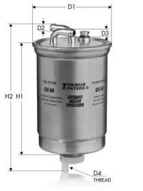 Топливный фильтр TECNECO FILTERS GS66.
