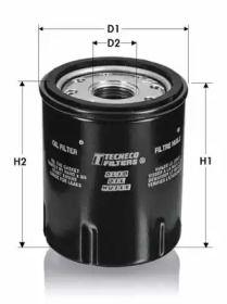 Масляний фільтр 'TECNECO FILTERS OL201'.