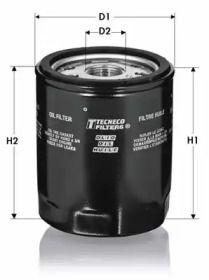 Масляний фільтр 'TECNECO FILTERS OL351'.