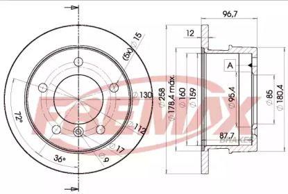 Задний тормозной диск 'FREMAX BD-0184'.