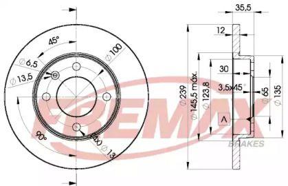 Передний тормозной диск на AUDI 80 'FREMAX BD-3300'.