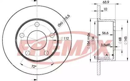 Тормозной диск 'FREMAX BD-4060'.