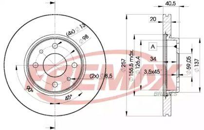Вентилируемый передний тормозной диск 'FREMAX BD-5056'.