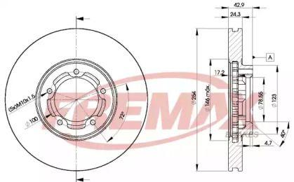 Вентилируемый задний тормозной диск на Форд Транзит Турнео 'FREMAX BD-5610'.
