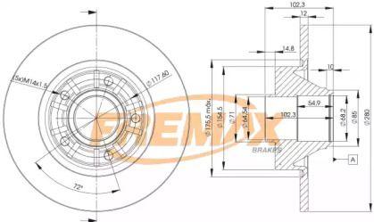 Задний тормозной диск FREMAX BD-6846.