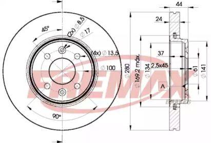 Вентилируемый передний тормозной диск FREMAX BD-7829.