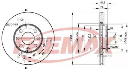 Вентилируемый передний тормозной диск 'FREMAX BD-7879'.