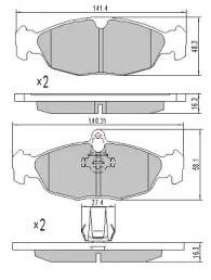 Тормозные колодки FREMAX FBP-0758.