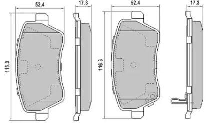 Передние тормозные колодки 'FREMAX FBP-1337'.