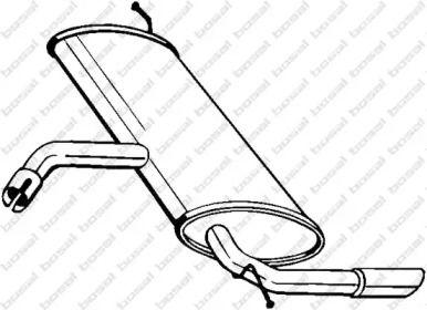 Глушитель на SEAT LEON 'BOSAL 227-043'.