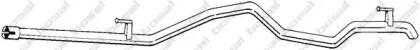 Приемная труба глушителя на VOLKSWAGEN LT 'BOSAL 573-915'.