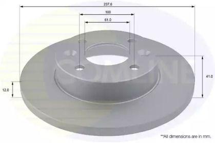 Передний тормозной диск на Дача Нова 'COMLINE ADC1503'.