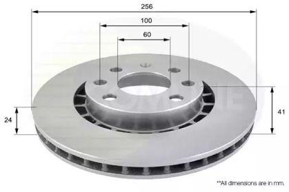 Вентилируемый передний тормозной диск на Дэу Эсперо 'COMLINE ADC1007V'.