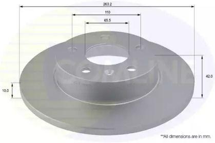 Задний тормозной диск 'COMLINE ADC1121'.