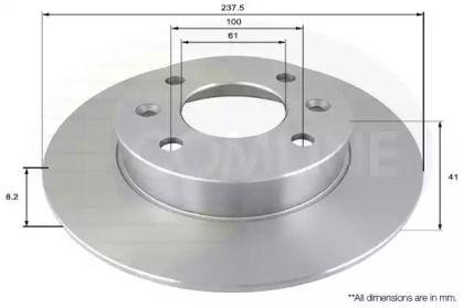Передний тормозной диск на RENAULT 5 'COMLINE ADC1515'.