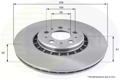 Вентильований передній гальмівний диск 'COMLINE ADC1919V'.