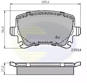 Задние тормозные колодки на SEAT LEON 'COMLINE CBP01284'.