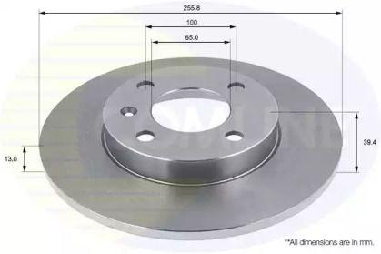 Передний тормозной диск на Сеат Инка 'COMLINE ADC1403'.