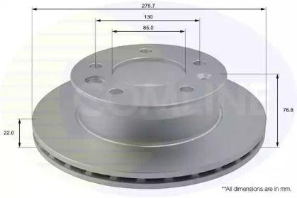 Вентилируемый передний тормозной диск на MERCEDES-BENZ VARIO 'COMLINE ADC1610V'.