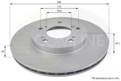 Вентилируемый передний тормозной диск на Хонда Одиссей COMLINE ADC0531V.