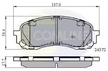 Передние тормозные колодки COMLINE CBP01778.