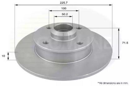 Задний тормозной диск 'COMLINE ADC1416'.