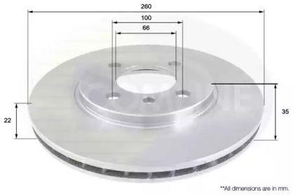 Вентилируемый передний тормозной диск на БМВ З1 'COMLINE ADC1709V'.