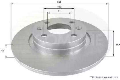 Передний тормозной диск 'COMLINE ADC2709'.