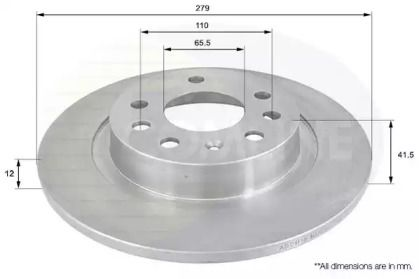 Задний тормозной диск на SAAB 9-3 'COMLINE ADC1116'.