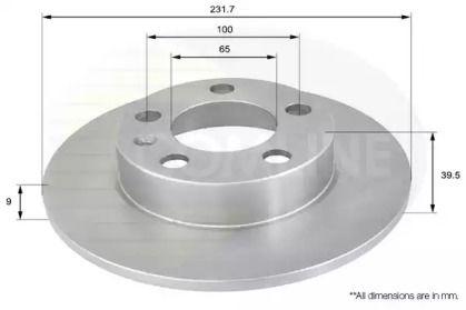 Задний тормозной диск на Сеат Леон 'COMLINE ADC1414'.