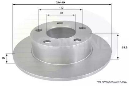 Задний тормозной диск 'COMLINE ADC1427'.