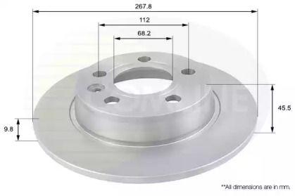 Задний тормозной диск 'COMLINE ADC1429'.