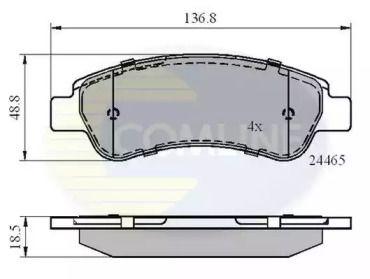 Заднї гальмівні колодки COMLINE CBP01604.